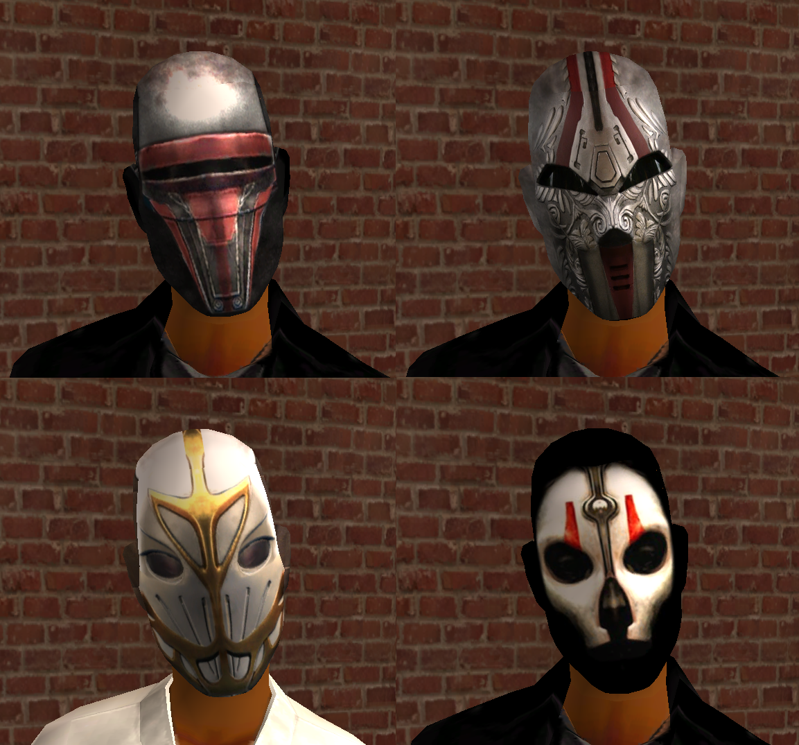 Sith and Jedi Masks